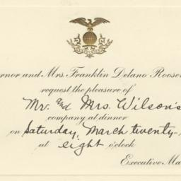 Dinner invitation from Gove...