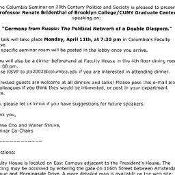 Announcements, 2005-04-11. ...