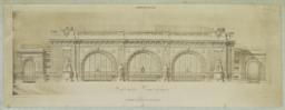 Façade Posterieure. A.-A. Marcel & L. P. Blanc. -- Gare centrale de Bucharest