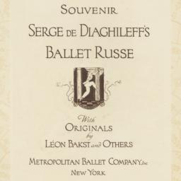 Souvenir: Serge de Diaghile...