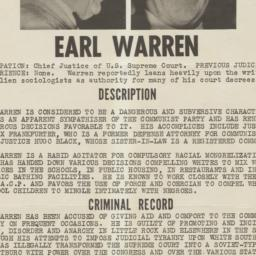 Wanted for Impeachment: Ear...