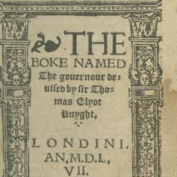 Boke Named the Governour