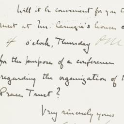 Manuscript letter to Henry ...