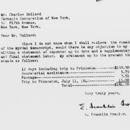 Letter from E. Franklin Fra...