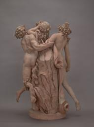 Satyr and Two Nymphs, Back