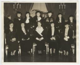 Photograph of the Cabinet Wives, Eleanor Roosevelt, and Frances Perkins