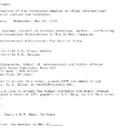 Announcements, 2002-05-15. ...