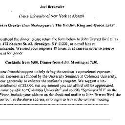 Announcements, 2002-10-11. ...