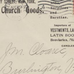 Bohne Bros. & Co. Envelope
