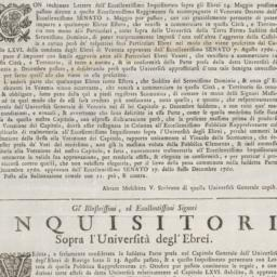 Copia &c. Tratta dal Libro ...