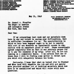 Letter from Paul Webbink to...