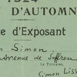 1924 Salon d'Automne Carte ...
