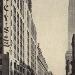 34th Street, Showing Macy's...