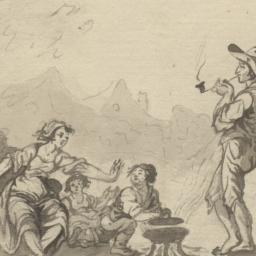 Peasant Family Beside a Bra...