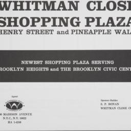 Whitman Close, Fulton Stree...