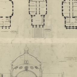 Plate XXVIII. Plans and sec...
