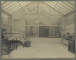 Conservatory, looking East into squash court