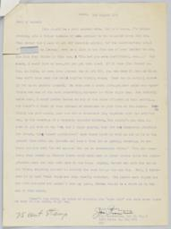 3 August 1945 Passantino letter to Barney Rosset's parents