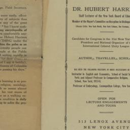 Hubert H. Harrison, circa 1...