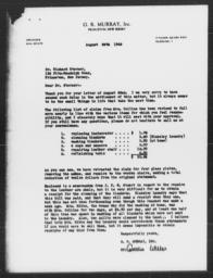 Letter from Cornelia Weller to Richard Sterner, August 28, 1942