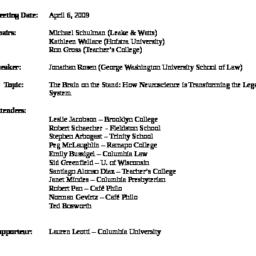 Minutes, 2009-04-06. Ethics...