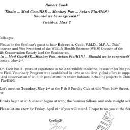 Correspondence, 2006-05-02....