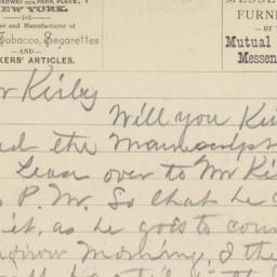 John Blakely. Letter