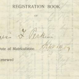 Registration Book of Miss F...
