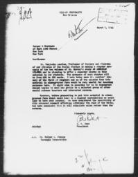 Letter from A.W. Dent to Harper & Brothers, March 1, 1944