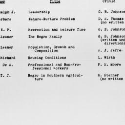 Carnegie-Myrdal Study, Manu...