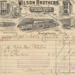 Wilson Brothers, bill or re...