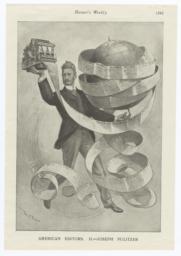 "Harpers Weekly Cartoon ""American Editors II. Joseph Pulitzer"""