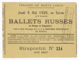 Theatre de Monte Carlo: Ballets Russes de Serge de Diaghilew ticket