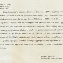 Copy of Telegram to Boston ...