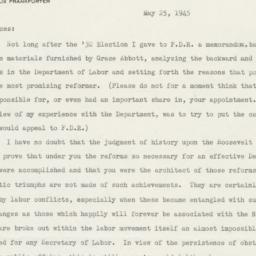 Letter from Felix Frankfurt...