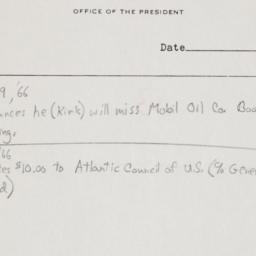 Notes on Office of Presiden...