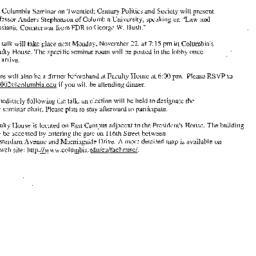 Announcements, 2004-11-22. ...
