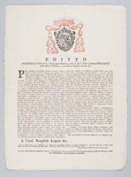 Editto Scipione del Titolo di S. Maria Sopra Minerva, della S.R.C. Prete Cardinal Borghese della città di Ferrara