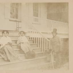 Two Women Seated on Porch S...