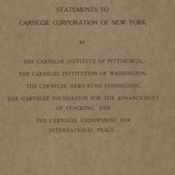 Statements to Carnegie Corp...