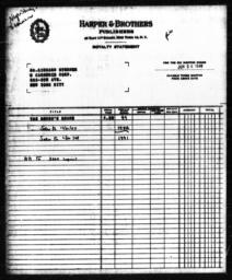 Royalty statement from Harper & Brothers to Richard Sterner for THE NEGRO'S SHARE, June 30, 1948