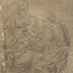 The     Holy Family (recto)...
