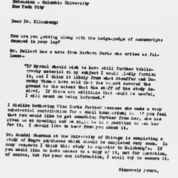 Letter from Samuel A. Stouf...