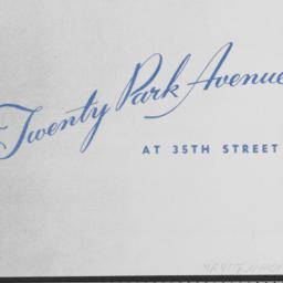 20 Park Avenue, Twenty Park...