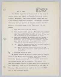 Letter from STRIKE! Committee, dated May, 2 1968