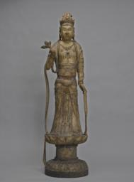 The Bodhisattva Guanyin Standing on a Lotus Pedestal, Front
