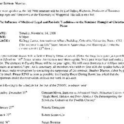 Announcements, 2000-11-14. ...