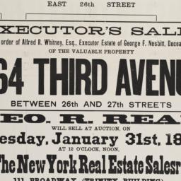 Executor's sale by order of...