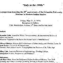 Announcements, 2001-05-11. ...