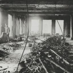 View of ruins after blaze s...